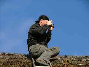 John takes photos of the view from Church House roof top