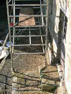 View of the foot of the scaffolding