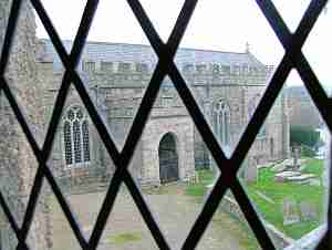 View of St. Andrew's from Church House window